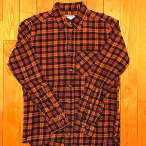 American apparel plaid flannel